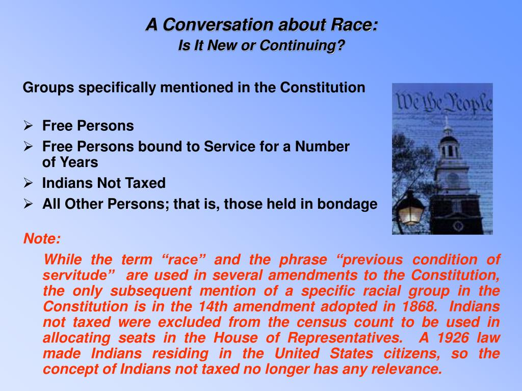 A Conversation about Race: