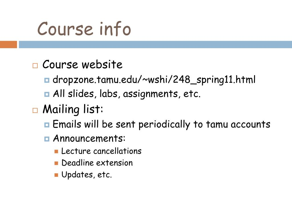 Course info