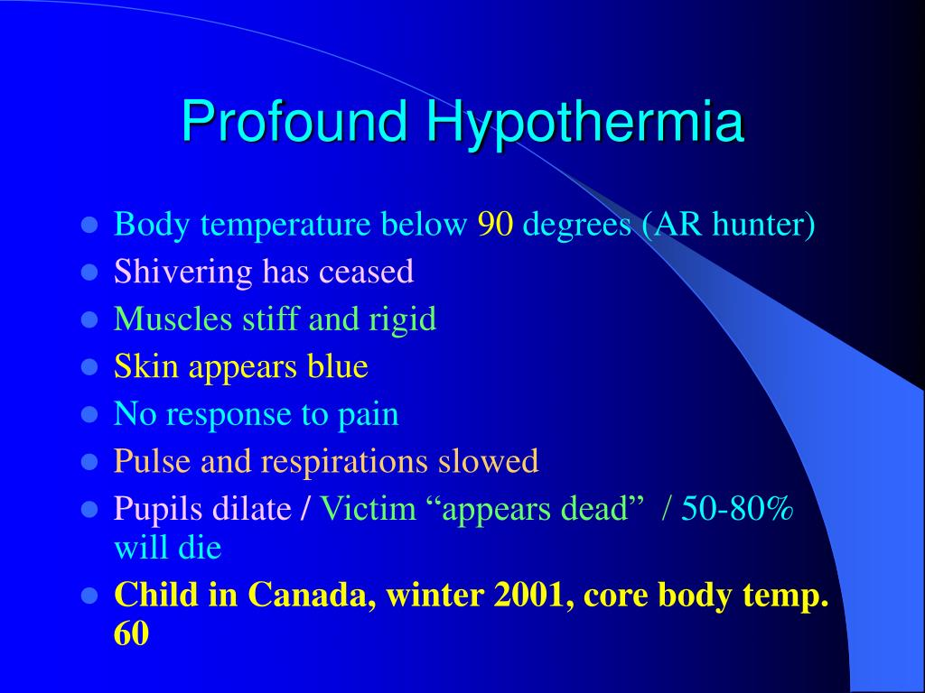 Profound Hypothermia