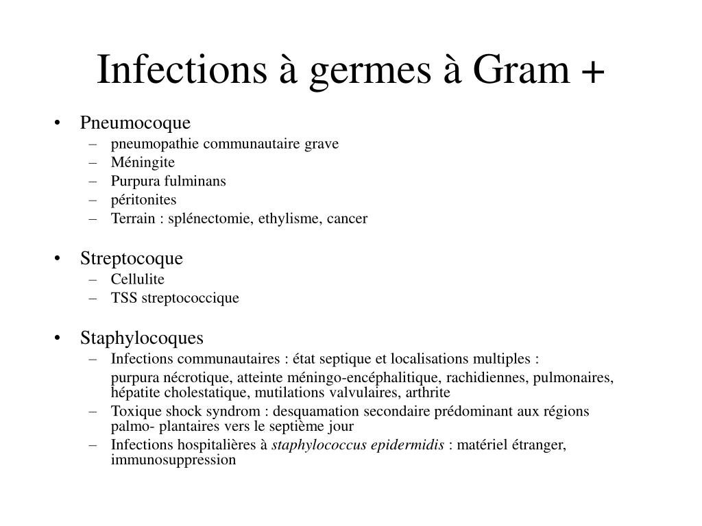 Infections à germes à Gram +