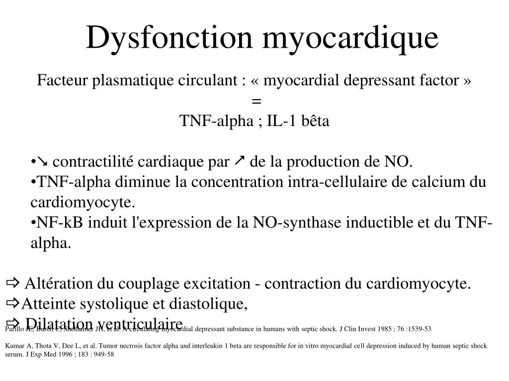 Dysfonction myocardique
