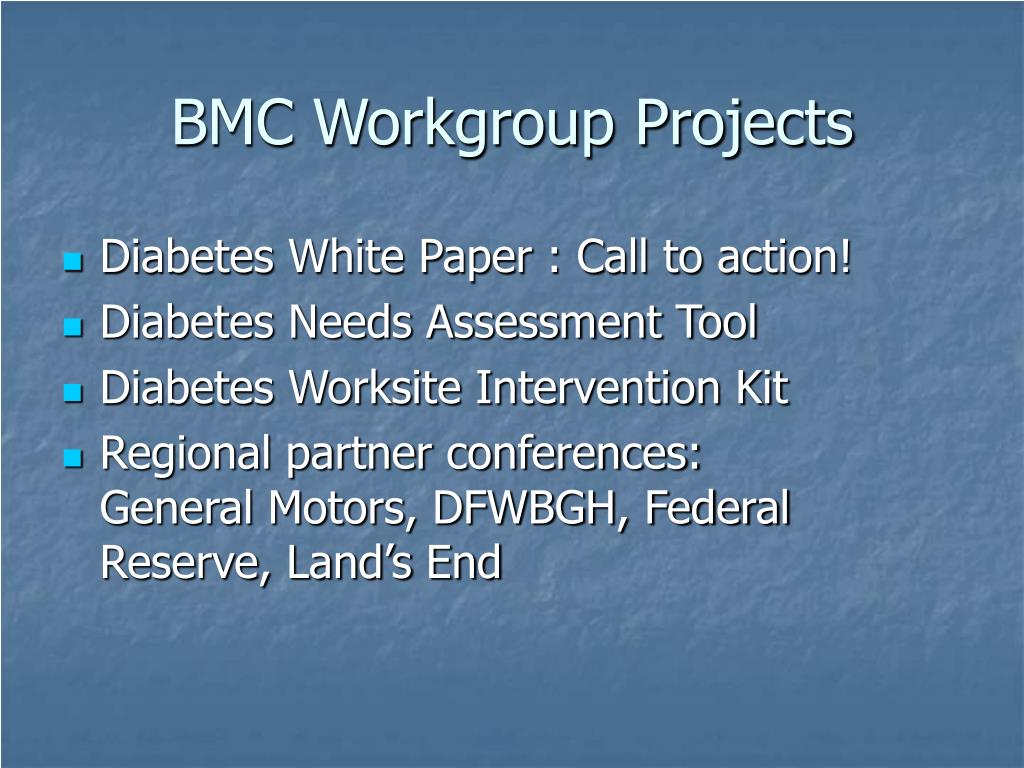 BMC Workgroup Projects