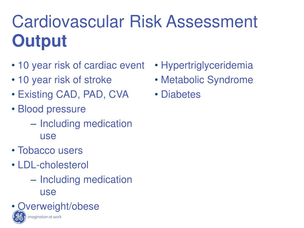 10 year risk of cardiac event
