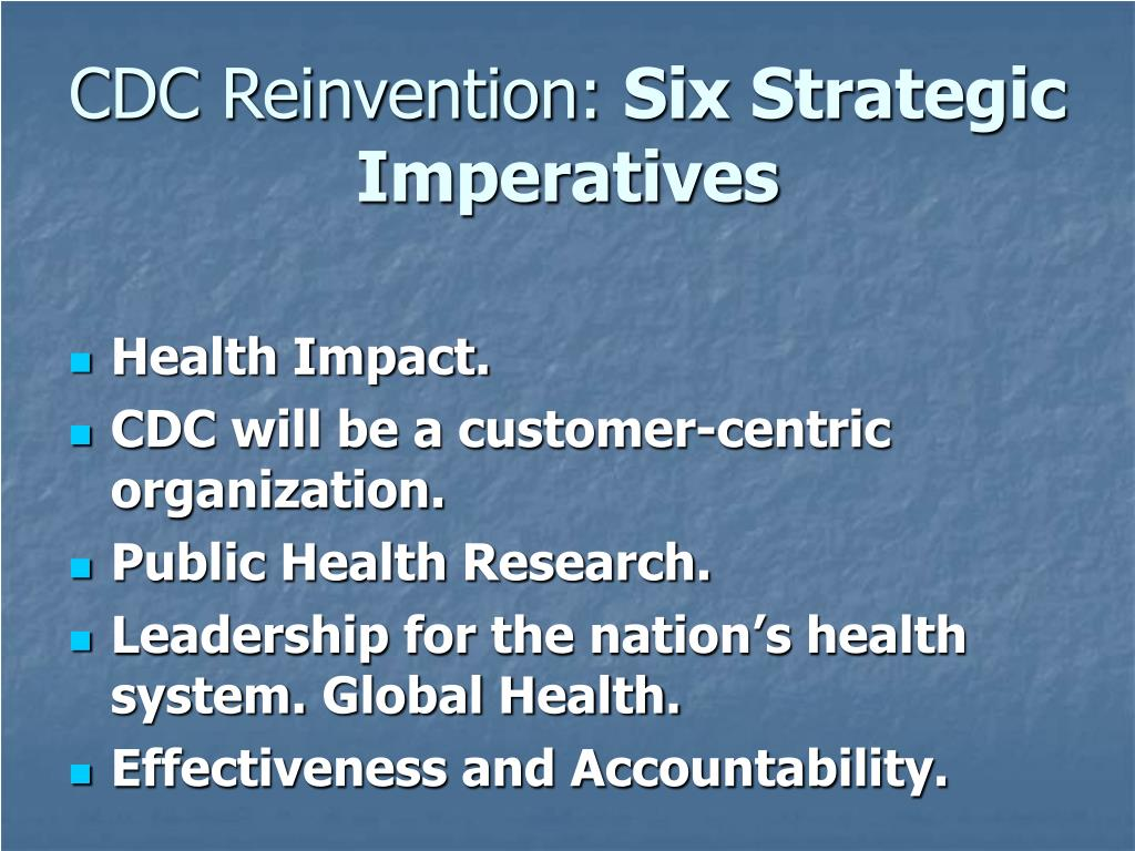CDC Reinvention:
