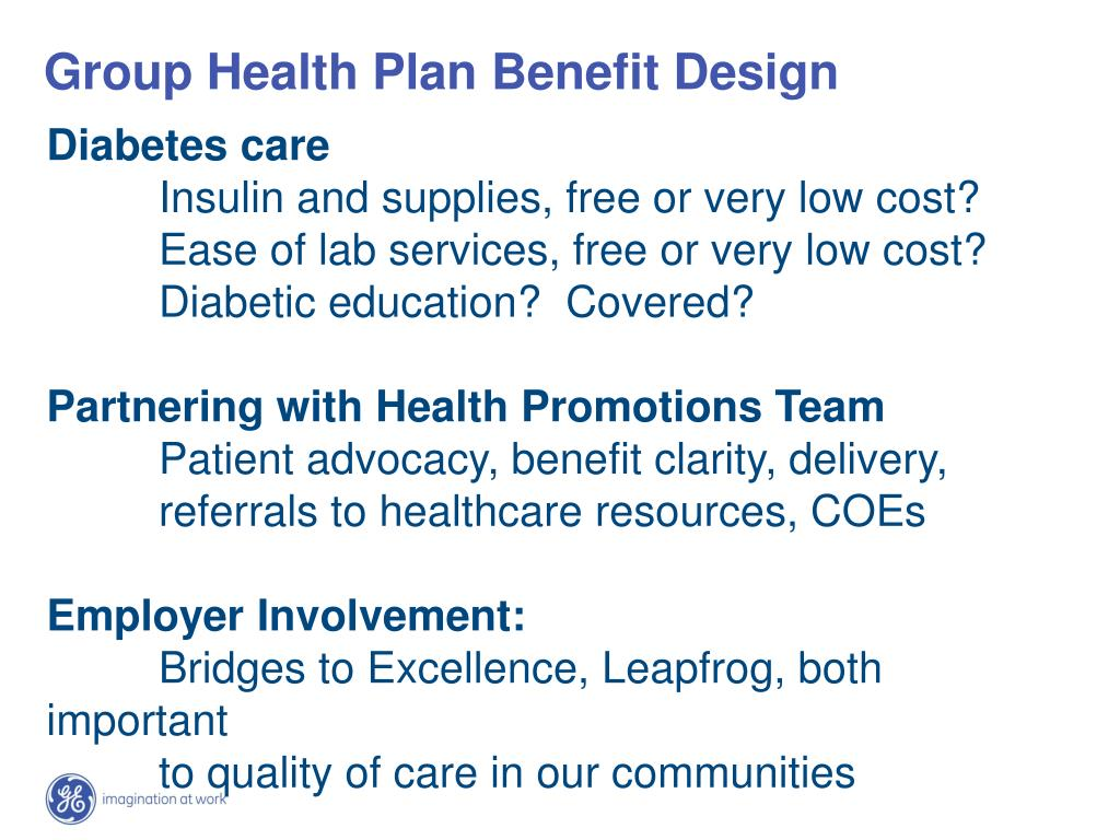 Group Health Plan Benefit Design