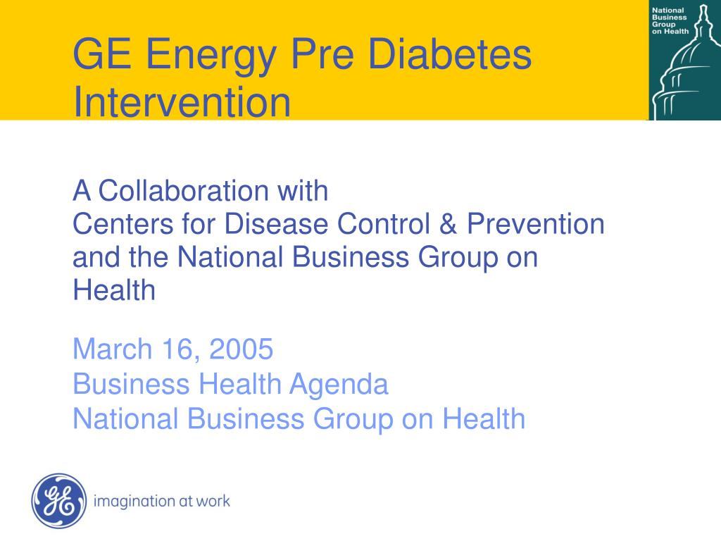GE Energy Pre Diabetes Intervention