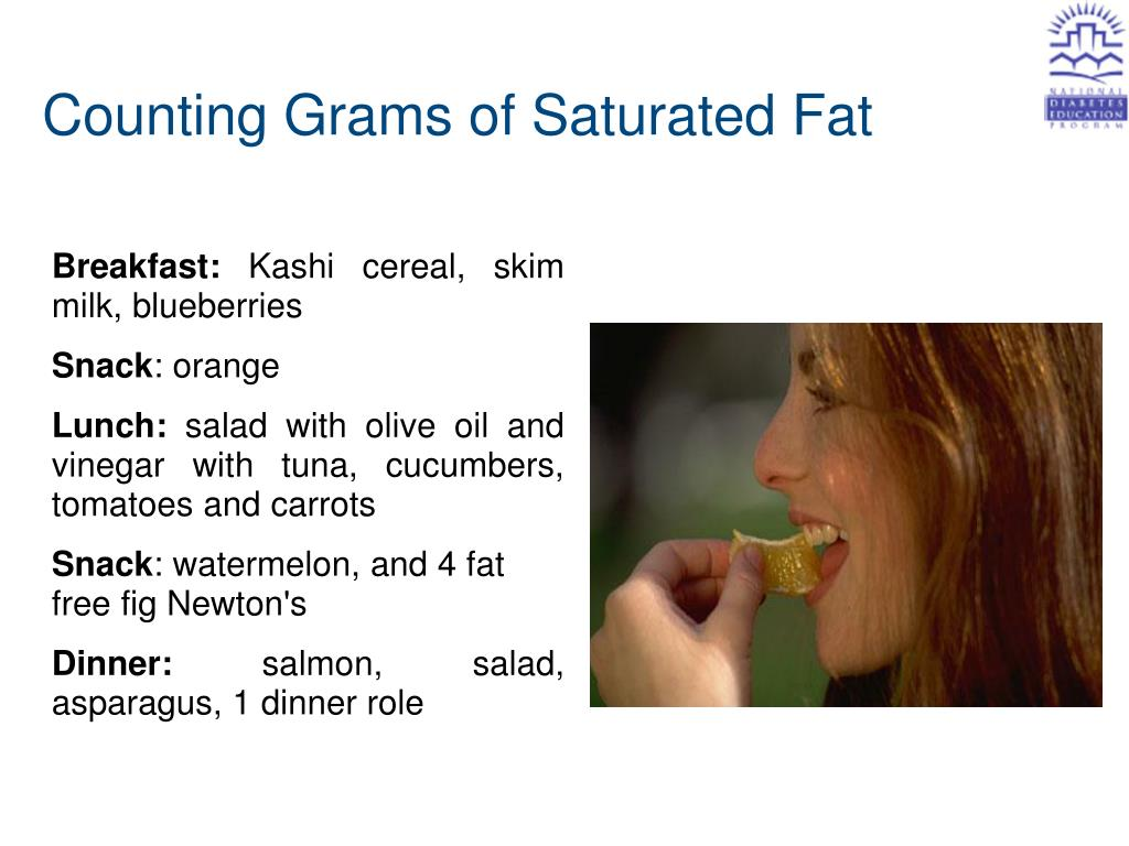 Counting Grams of Saturated Fat