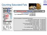 counting saturated fats
