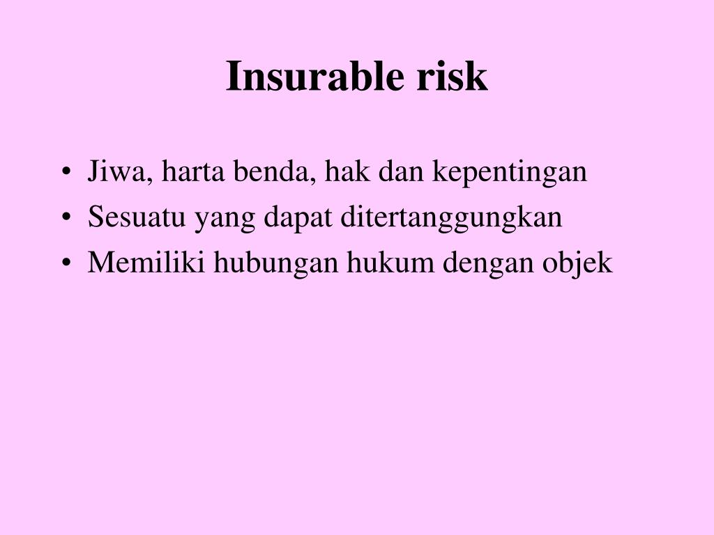 Insurable risk