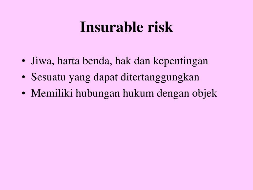 Insurable risk
