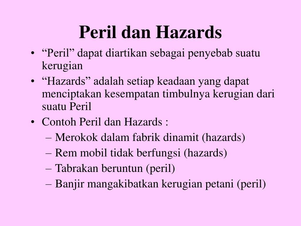 Peril dan Hazards