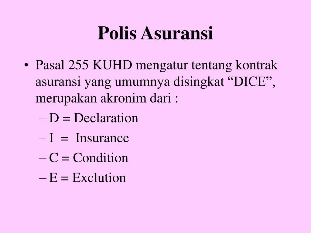 Polis Asuransi