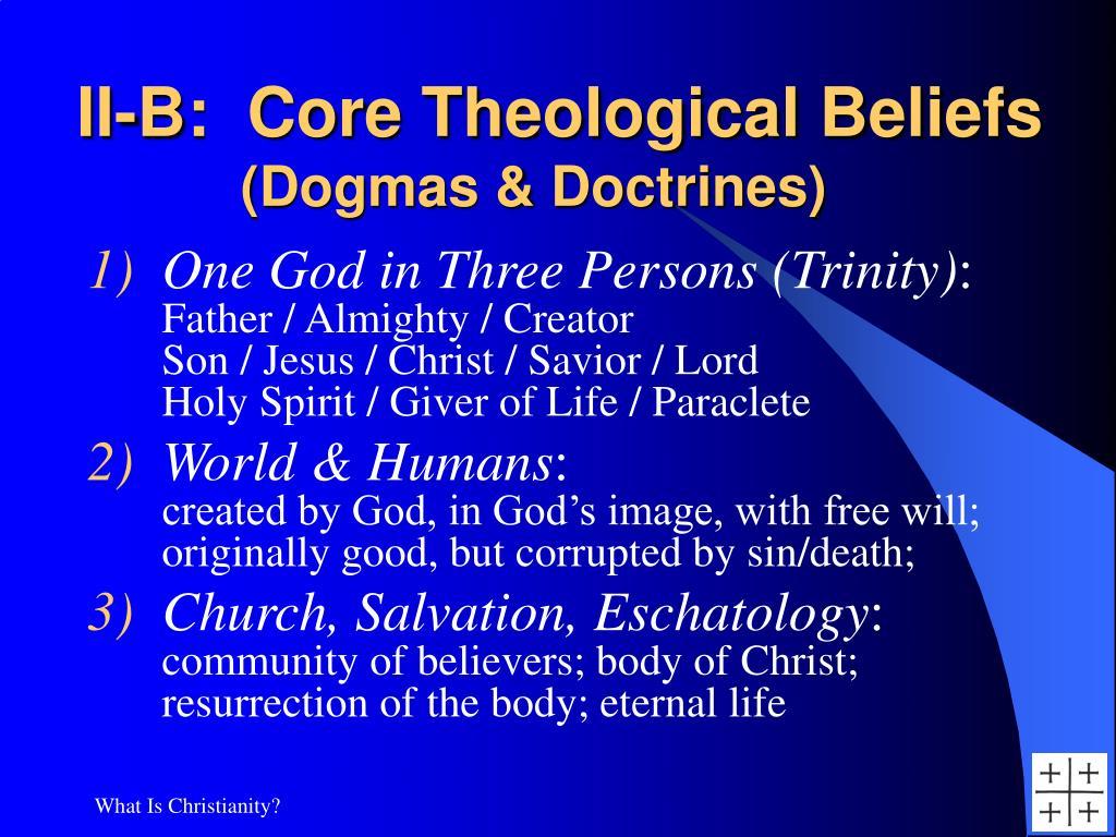 II-B:  Core Theological Beliefs