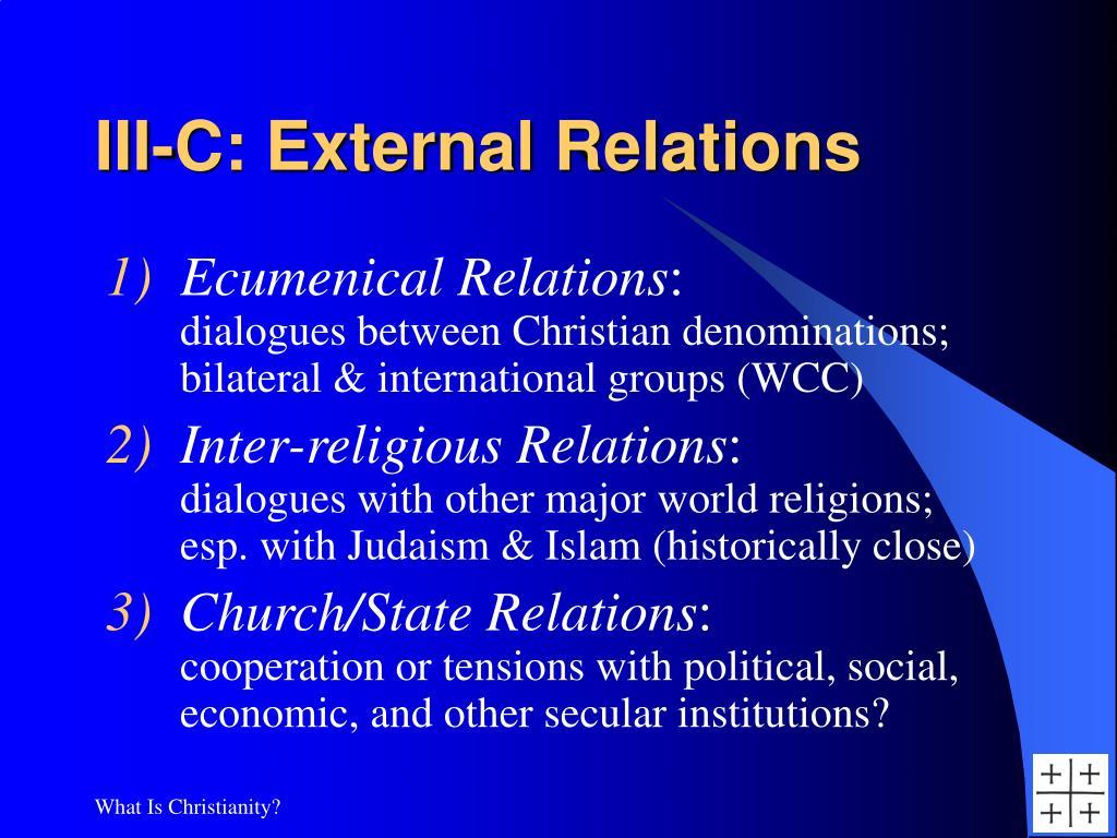 III-C: External Relations