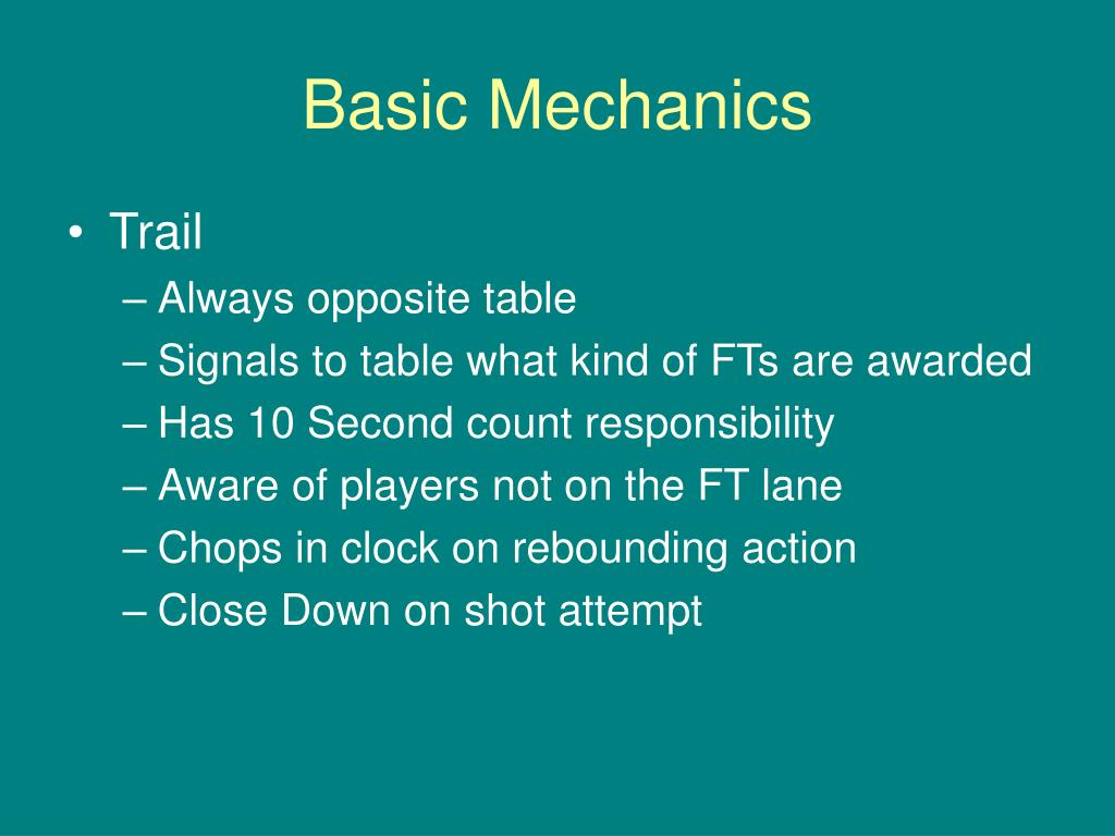 Basic Mechanics