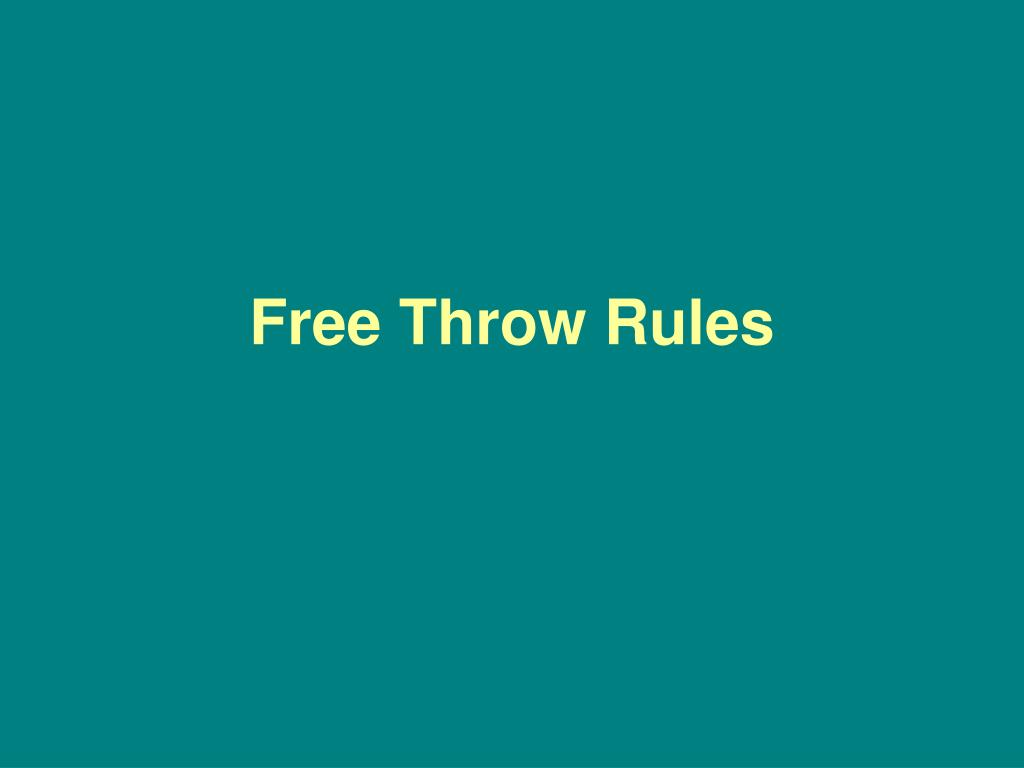 Free Throw Rules