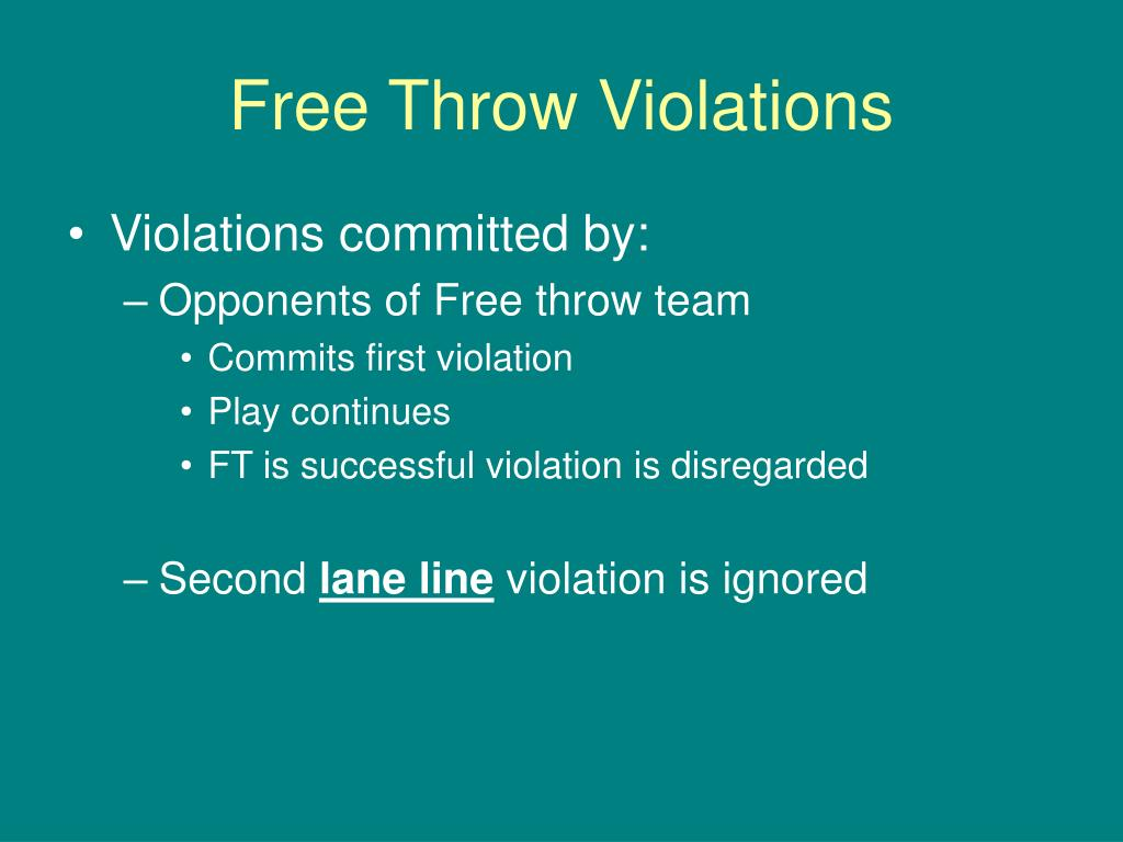 Free Throw Violations