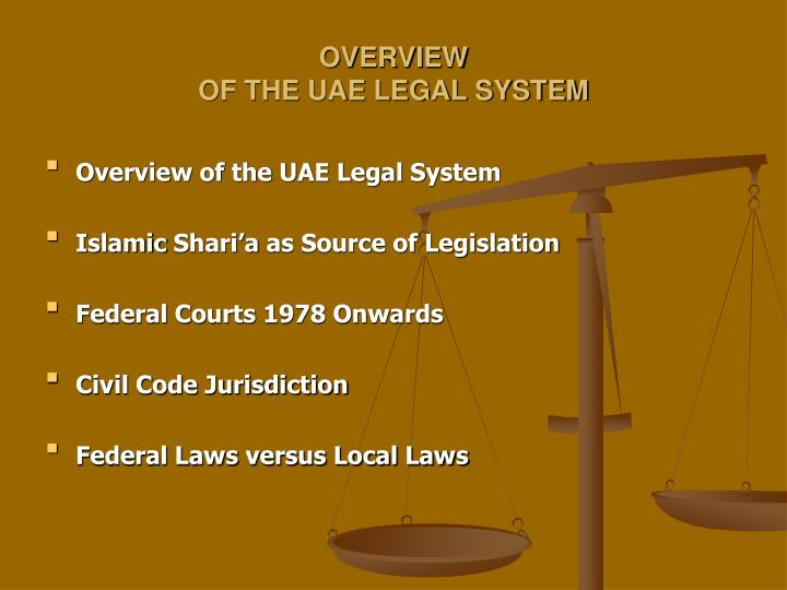Overview of the uae legal system l.jpg