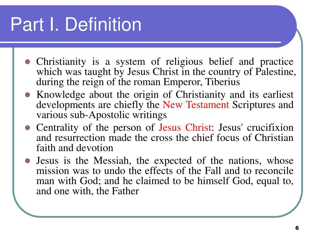 Part I. Definition