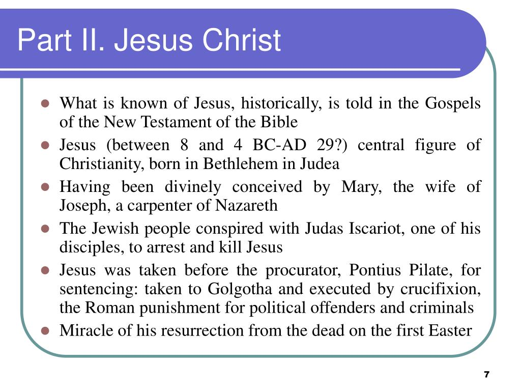 Part II. Jesus Christ