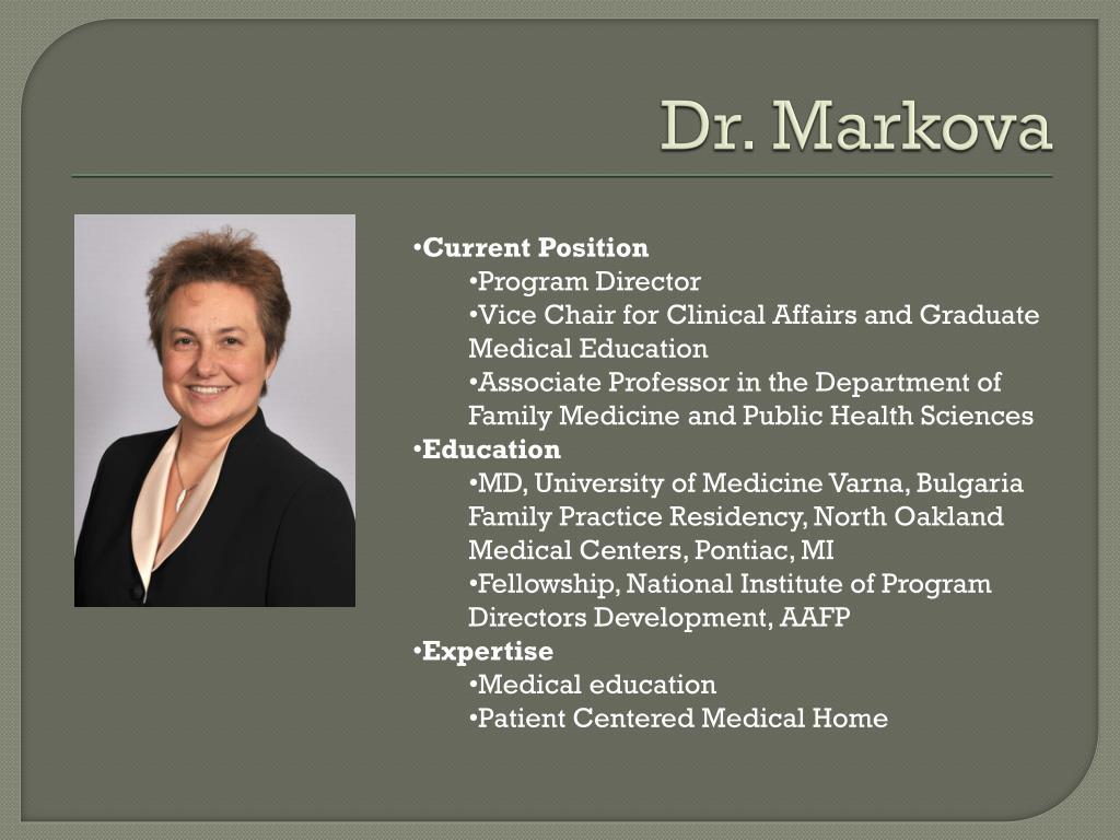 Dr. Markova