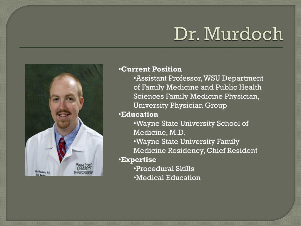 Dr. Murdoch
