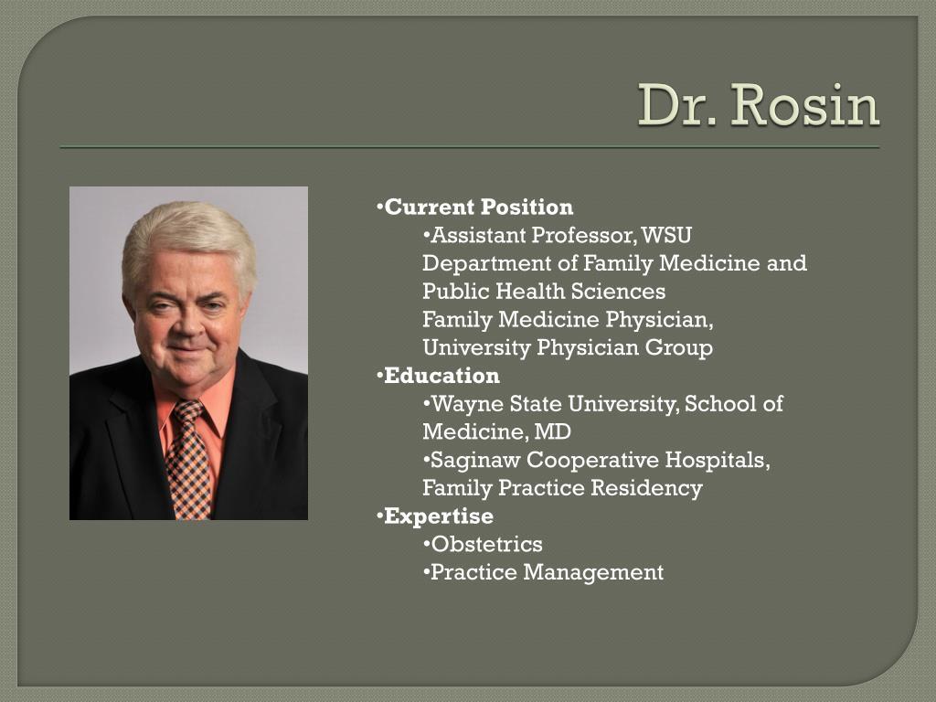 Dr. Rosin