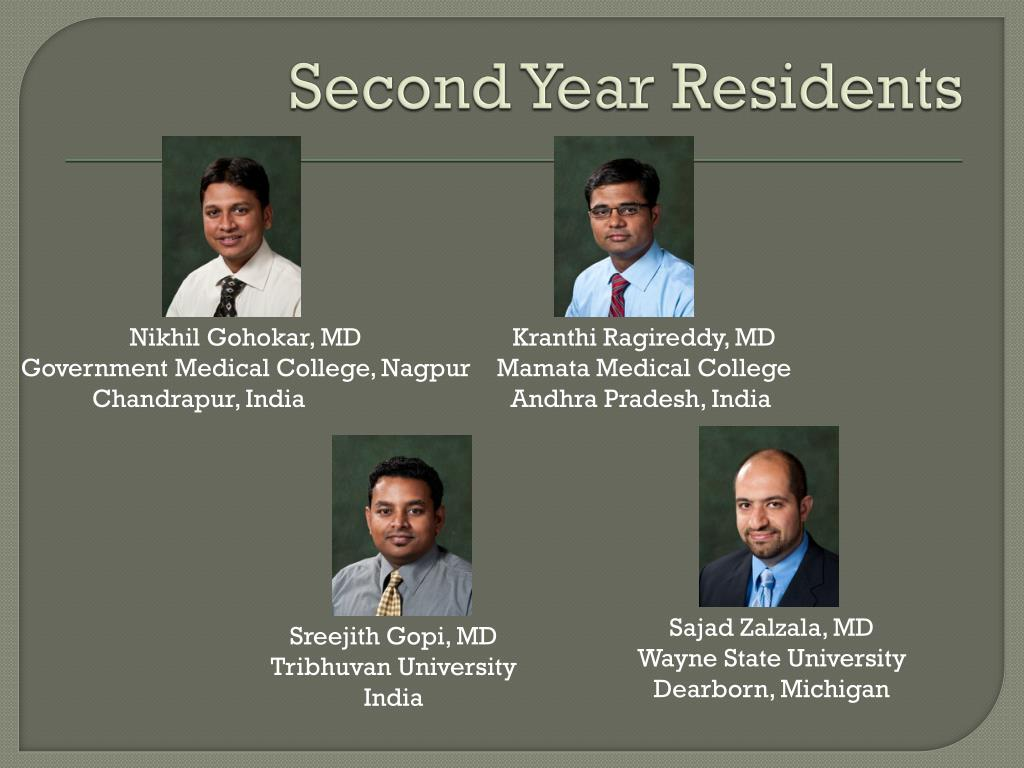 Second Year Residents