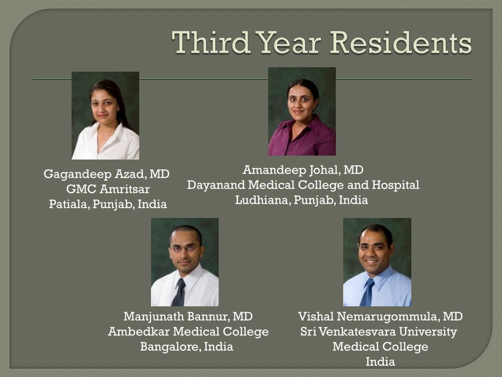 Third Year Residents