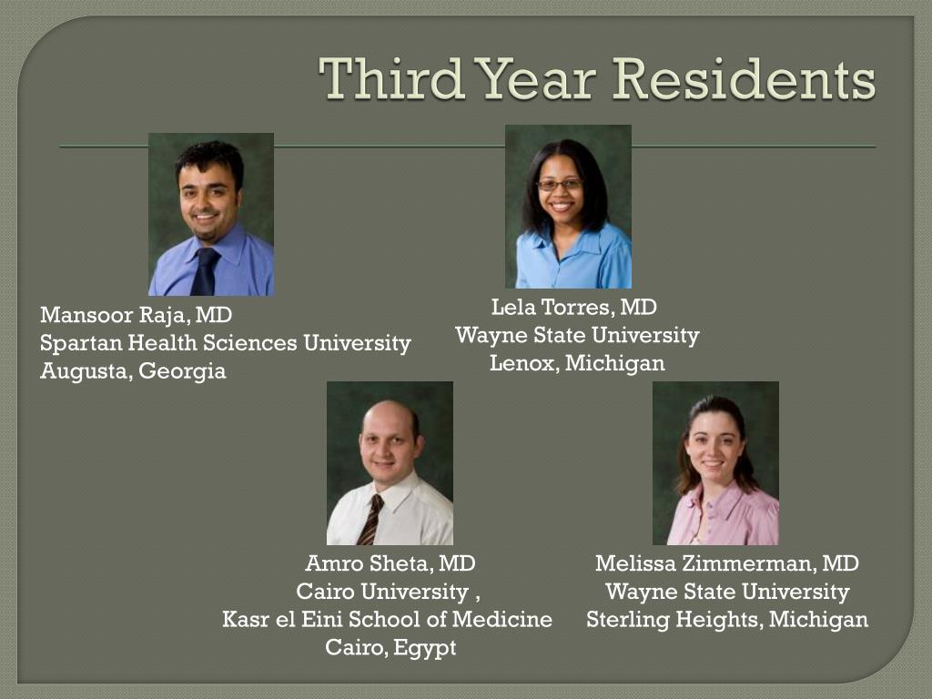 Third Year Residents
