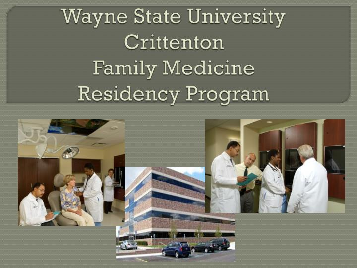 Wayne state university crittenton family medicine residency program l.jpg
