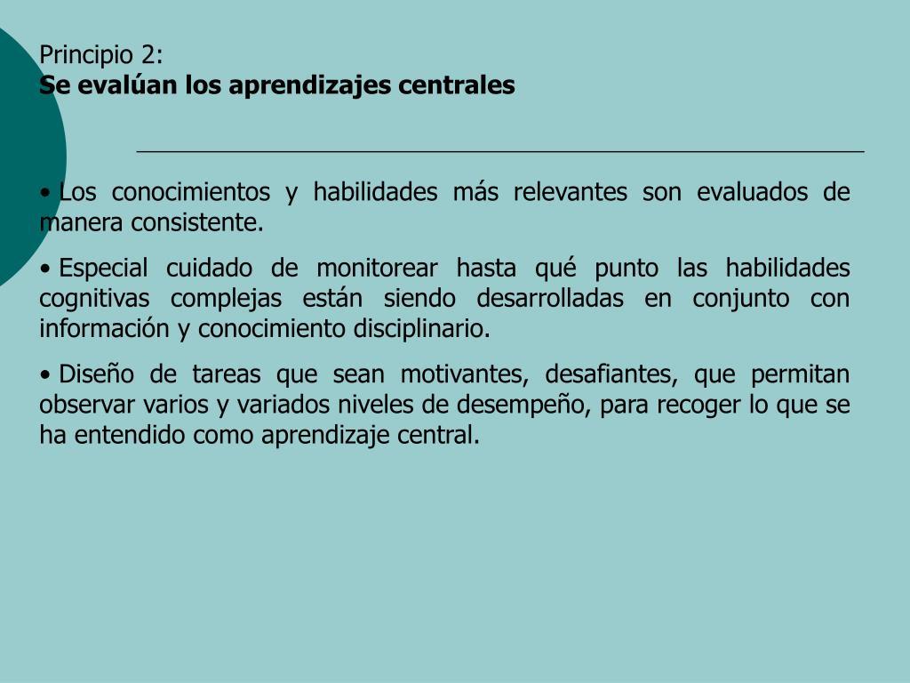 Principio 2:
