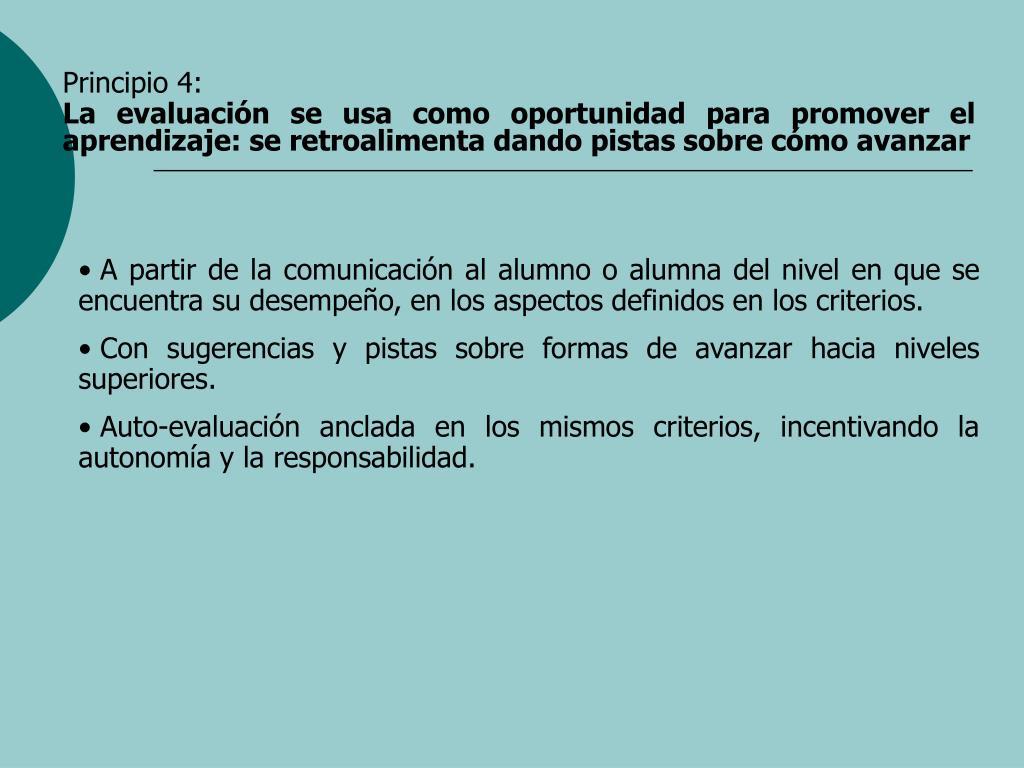 Principio 4:
