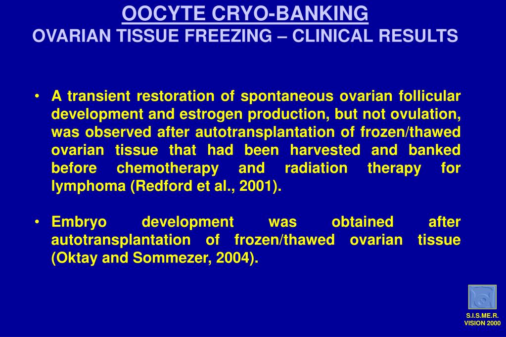 OOCYTE CRYO-BANKING