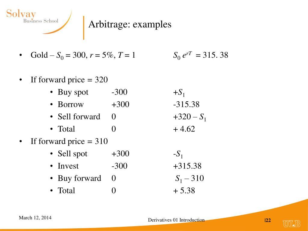 Arbitrage: examples