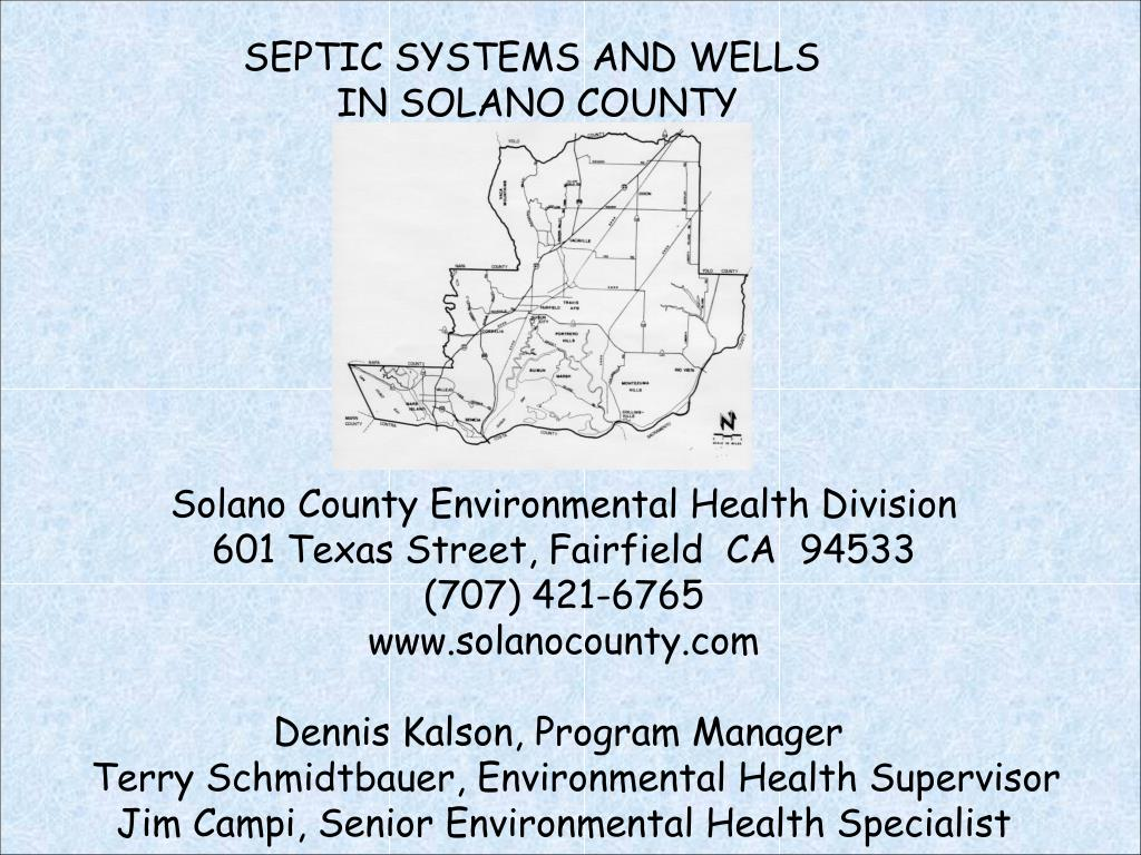 SEPTIC SYSTEMS AND WELLS