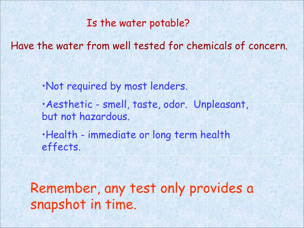 Is the water potable?