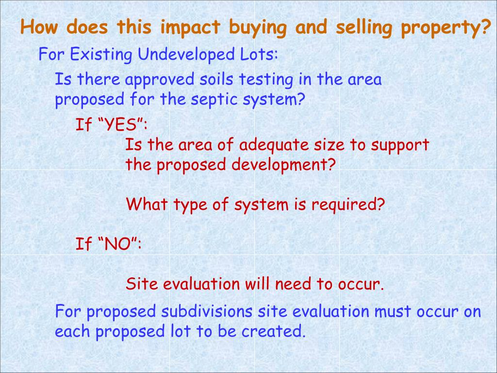 How does this impact buying and selling property?