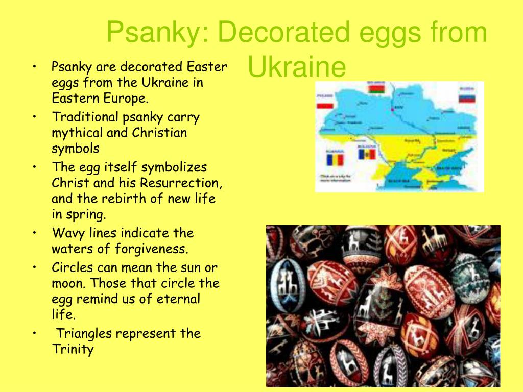 Psanky: Decorated eggs from Ukraine