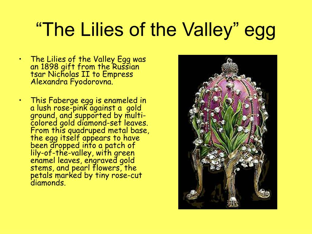 """The Lilies of the Valley"" egg"