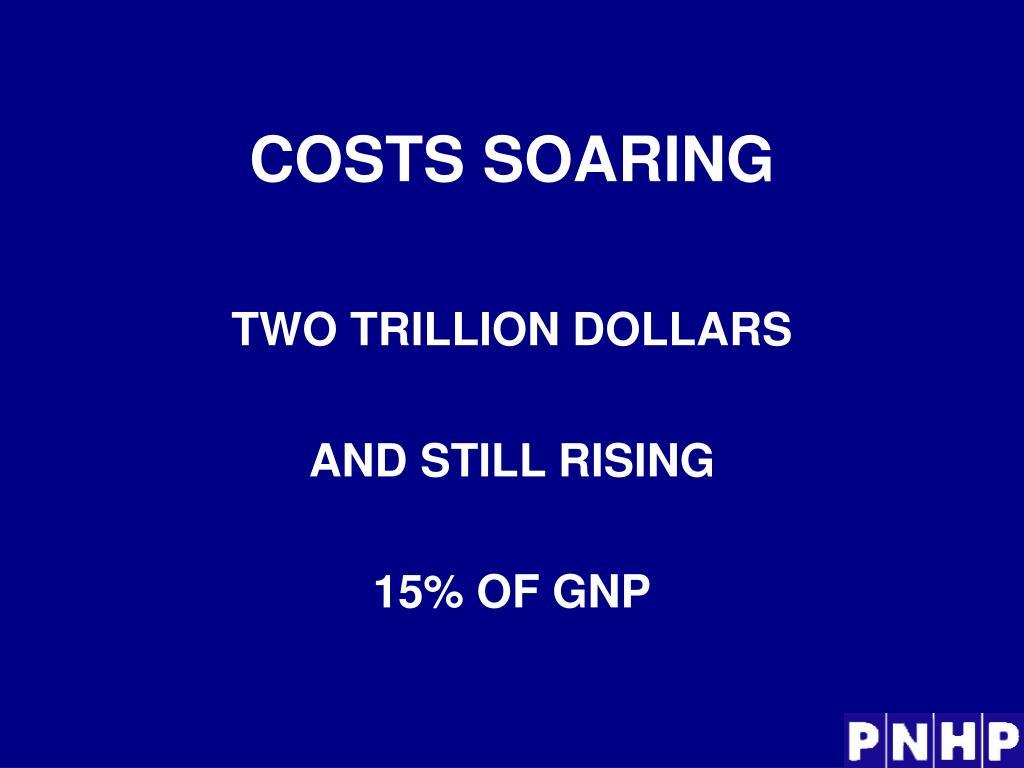 COSTS SOARING