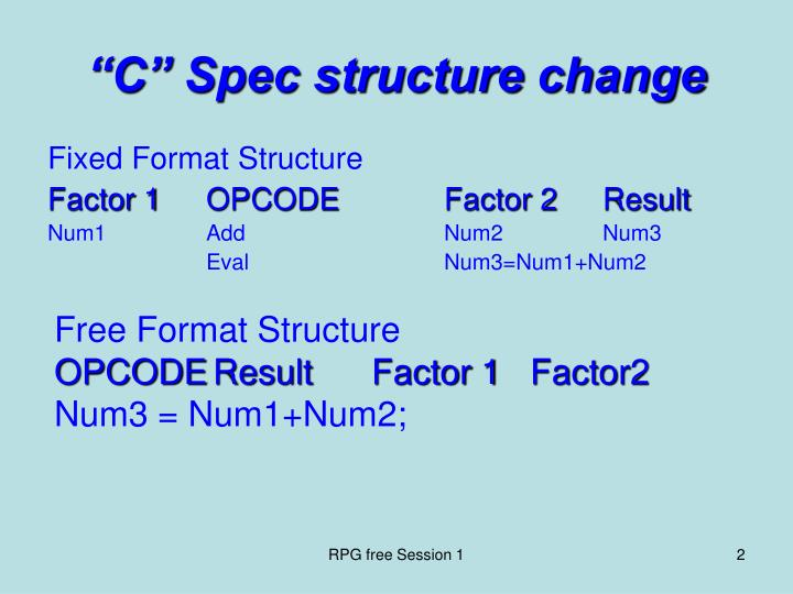 C spec structure change