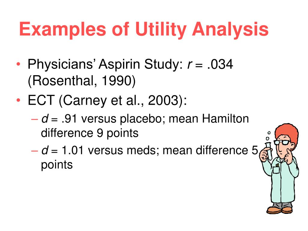 Examples of Utility Analysis