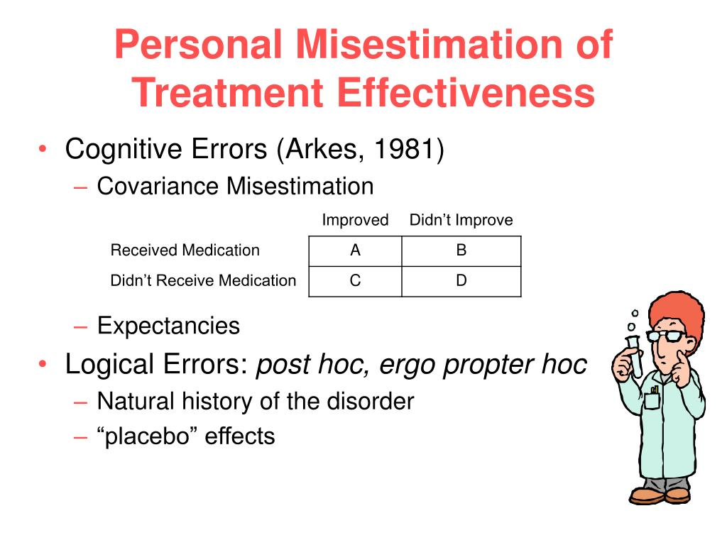 Personal Misestimation of Treatment Effectiveness