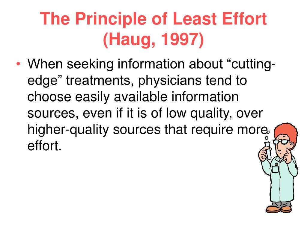 The Principle of Least Effort