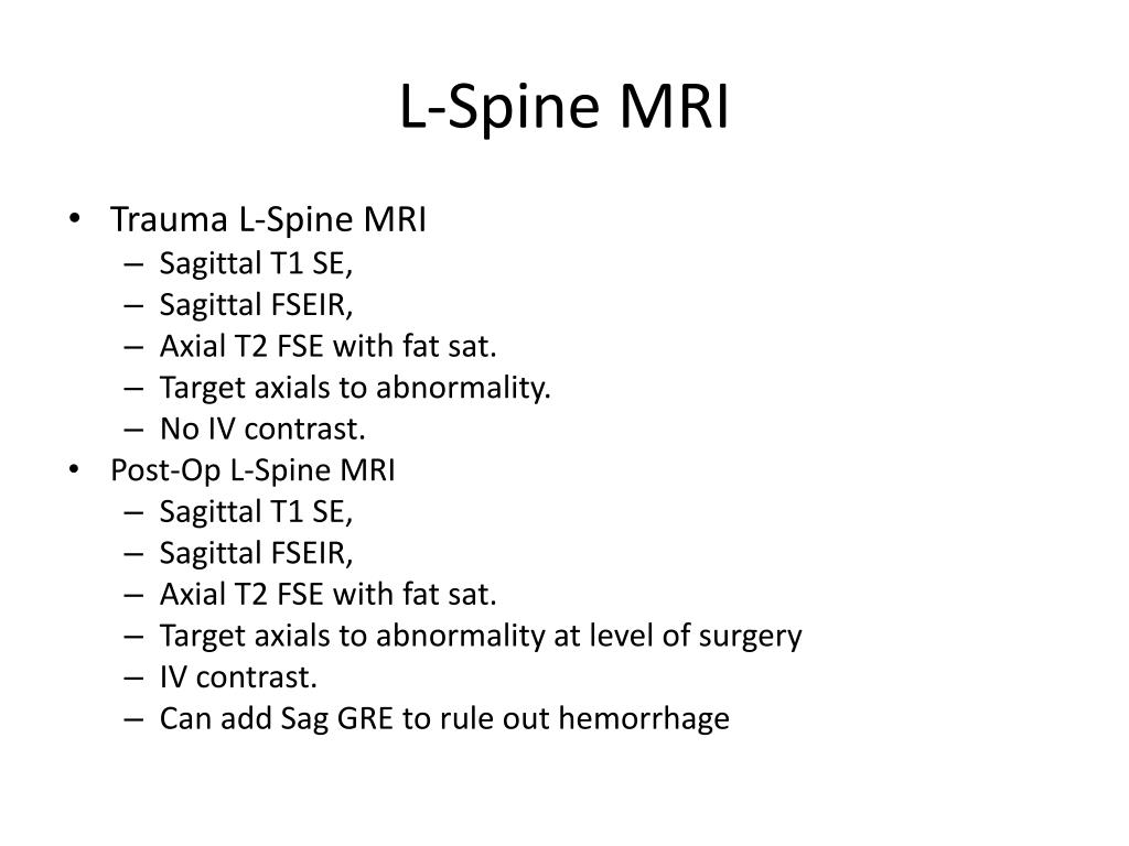 L-Spine MRI