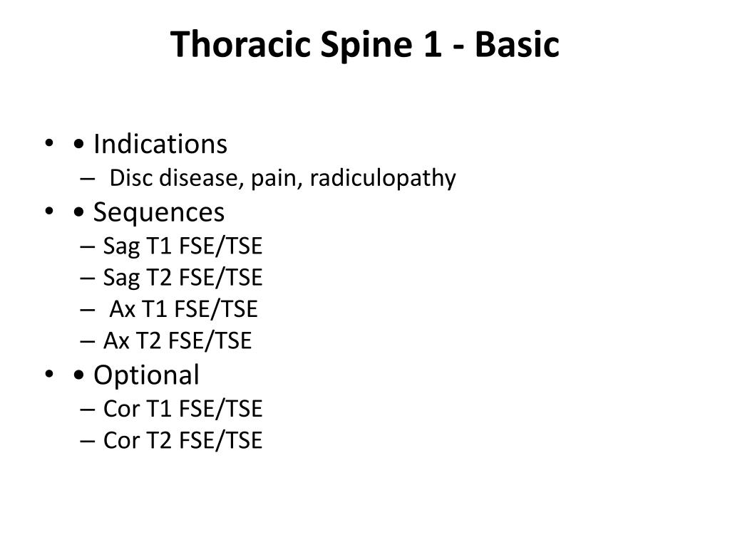 Thoracic Spine 1 - Basic