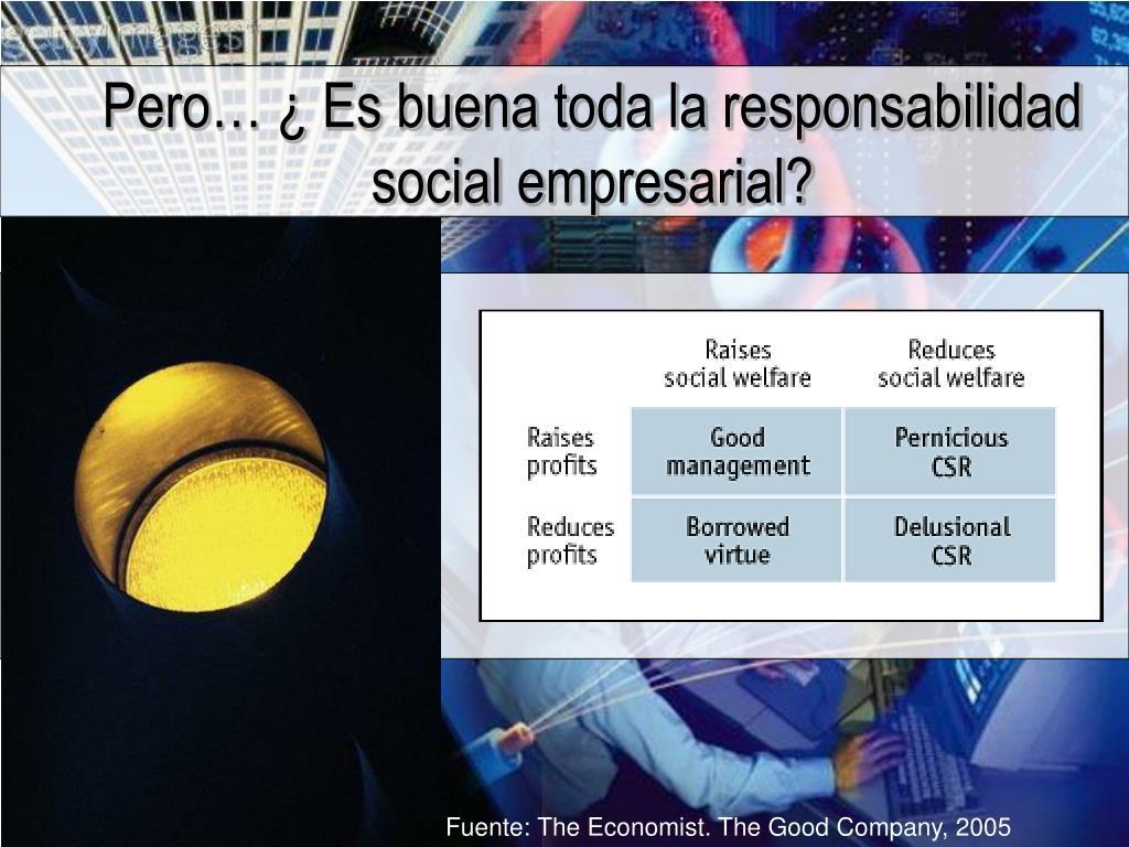 Pero… ¿ Es buena toda la responsabilidad social empresarial?
