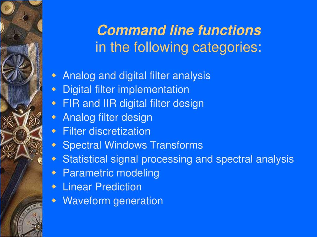 Command line functions