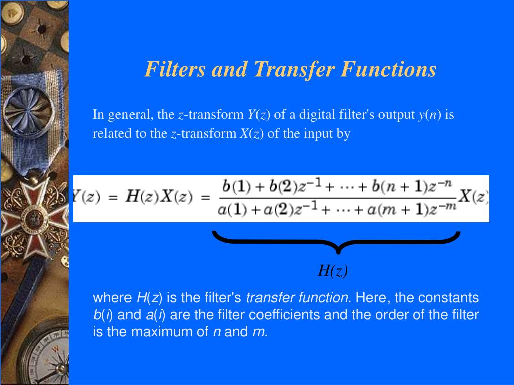 Filters and Transfer Functions